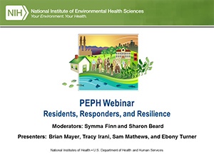 Residents, Responders, and Resilience Webinar Slide
